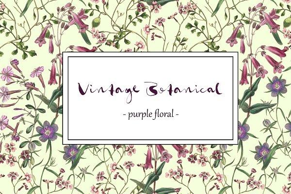 Vintage Botanical - Purple Floral