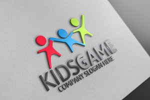 Kids Game Logo Discount % 25