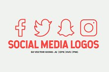 Social Media Line Icons Pack by  in Icons