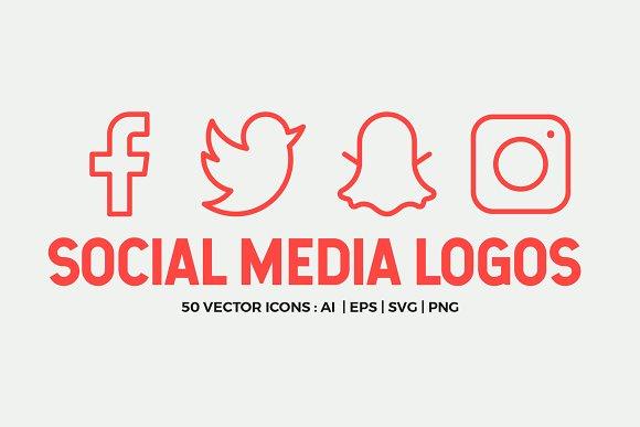 Social Media Line Icons Pack