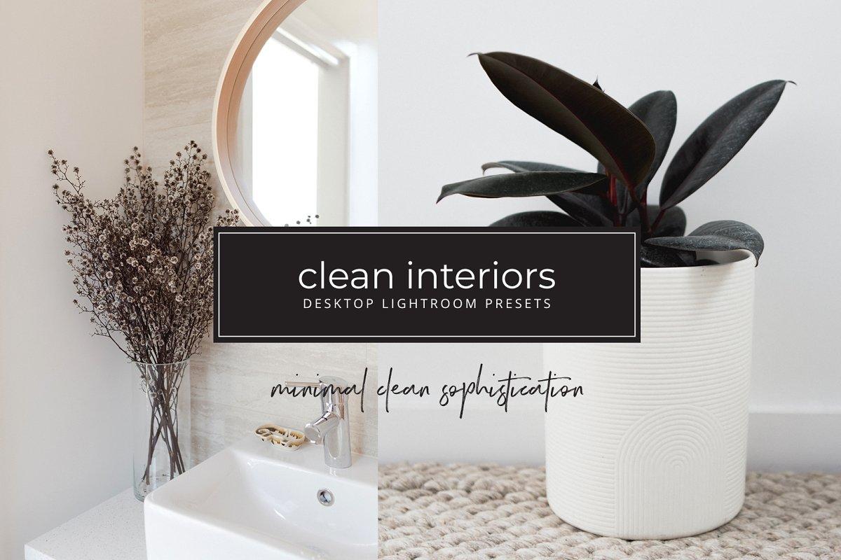 Minimalist interior lightroom preset