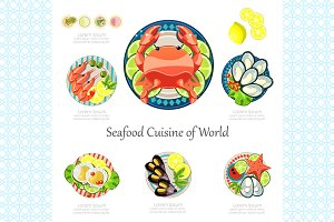Seafood design set