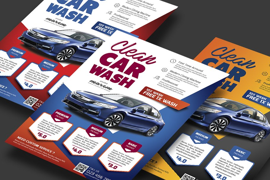 Car Wash ~ Flyer Templates ~ Creative Market