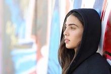 Profile portrait of a skater style teenager girl.jpg