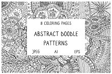 Abstract Doodles - 8 coloring pages