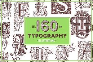 Old Typography Vintage Illustrations