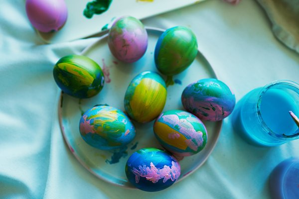 Holiday Stock Photos: Klever Level Studio - Happy easter decoration. Happy