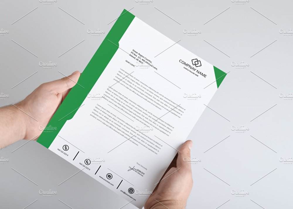 best letter head template stationery templates creative market