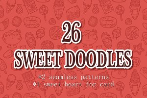 26 sweet doodles(sweets)
