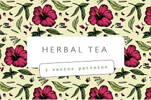 Herbal Tea Botanical Pattern