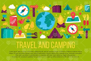 Travel And Camping Banner