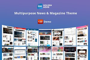 GoldenNews - Creative Magazine/News