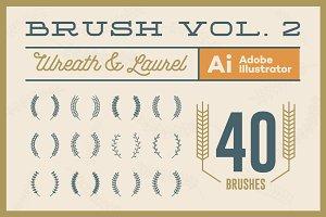 Wreath & Laurel Brush Vol. 2