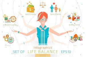 Infographics: Woman Life Balance