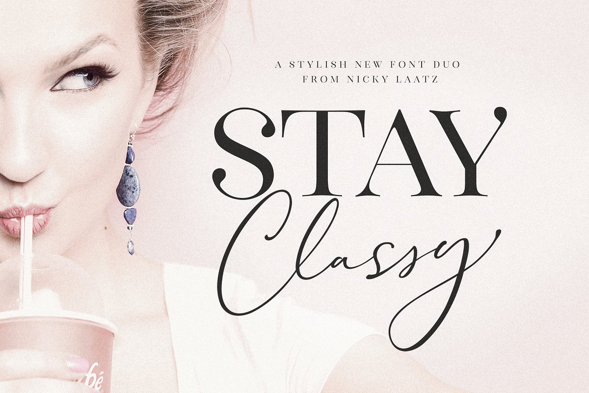 The Stay Classy Font Duo ~ Display Fonts ~ Creative Market