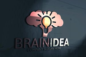 Brain Logo Template