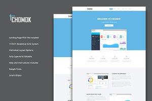 Chomok - Material Landing Page PSD