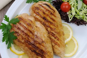 chicken breasts grilled