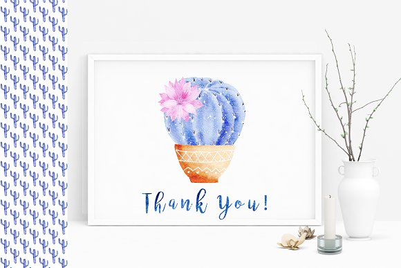 Watercolor Galaxy Cactus Collection in Illustrations - product preview 9
