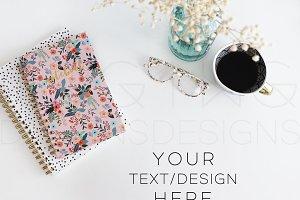 Styled Stock Photo Desktop Notebooks