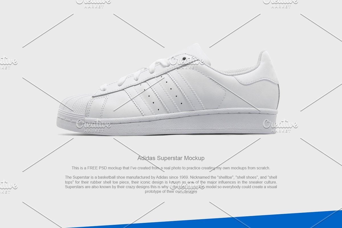 6167e75f4f40 Adidas Superstar Mockup ~ Product Mockups ~ Creative Market