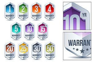 Warranty Seal Hexagon Chrome Badge