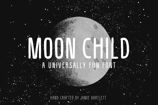 Sans Serif Fonts: Jamie Bartlett - Moon Child Font