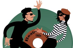 Beatniks dancing