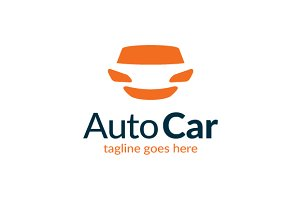Auto Car Service Center Happy Logo