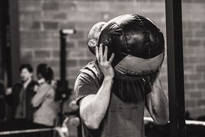 CrossFit Man Wall Ball Toss 19.1