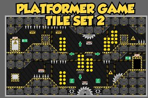 Platformer Game Tile Set 2