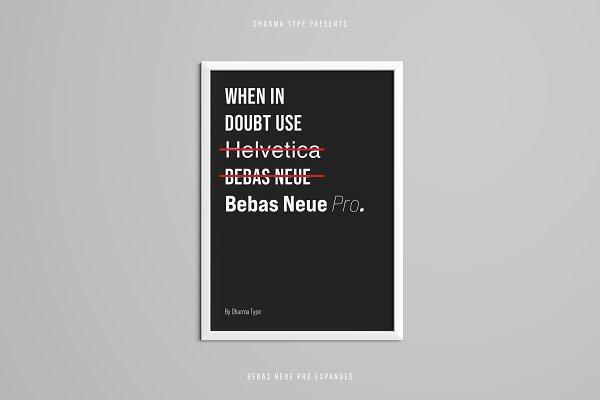 Best Bebas Neue Pro - Exp Middle Vector