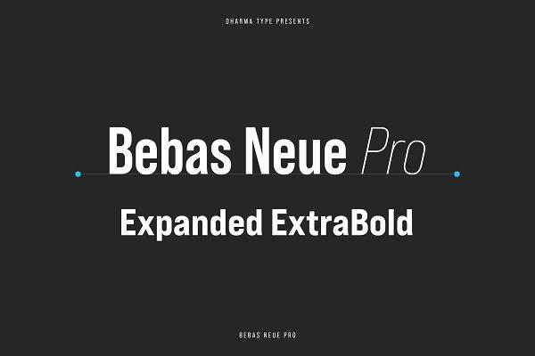 Bebas Neue Pro - Exp ExtraBold