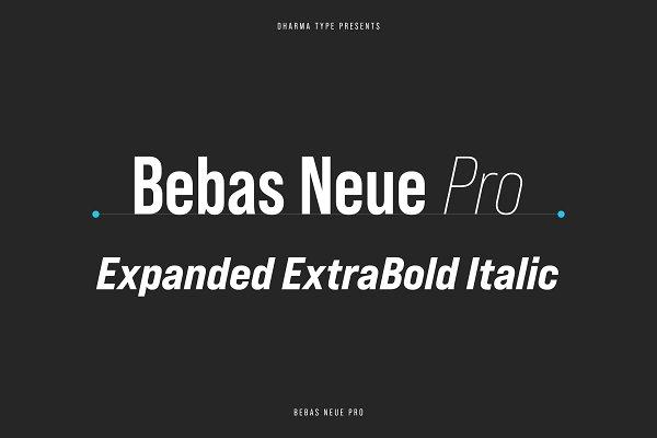 Bebas Neue Pro - Exp ExtraBold Itali