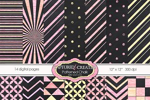 Patterned Chalk, 14-Papers