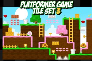 Platformer Game Tile Set 3