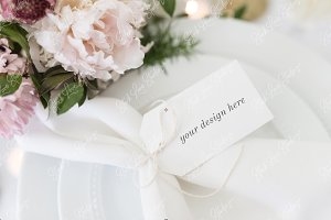 Wedding Tag Mockup