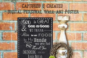 Wall Art Poster- God Is Great