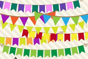 Multicolor Bunting Banner Clipart