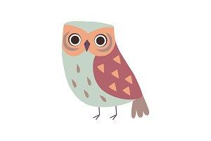 Cute Adorable Owl Bird Cartoon
