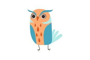 Cute Adorable Colorful Owl Bird