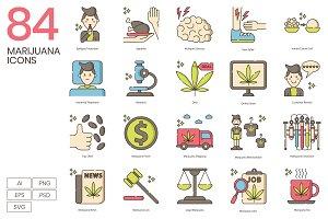 Marijuana Weed Icons | Hazel Series
