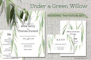 "Wedding Set ""Under a Green Willow"""