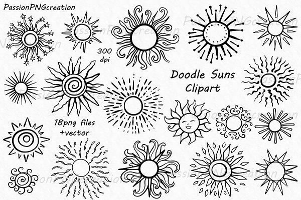 Doodle Sun Clipart