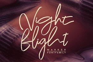 Night Flight Marker Brush Font