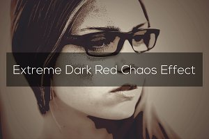 Extreme Dark Red Chaos Effect