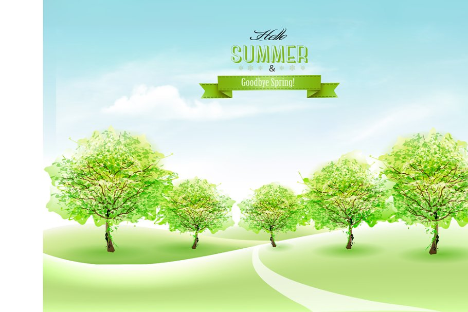 Nature summer countryside landscape