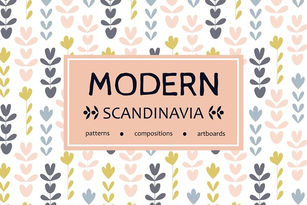 Graphic Patterns: Alina Sagirova - Scandinavian floral patterns set