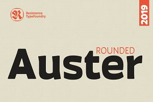 Auster Rounded 20 fonts - 50% off
