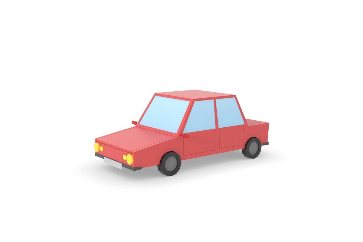 Car Low Poly simple cartoon